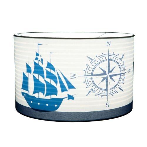 Geweldige hanglamp met een maritiem thema.De boot worden zichtbaar op het moment dat je het licht aanzet!