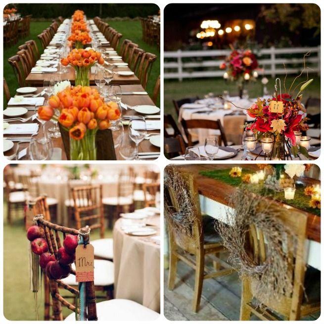 Fall Wedding Reception Ideas