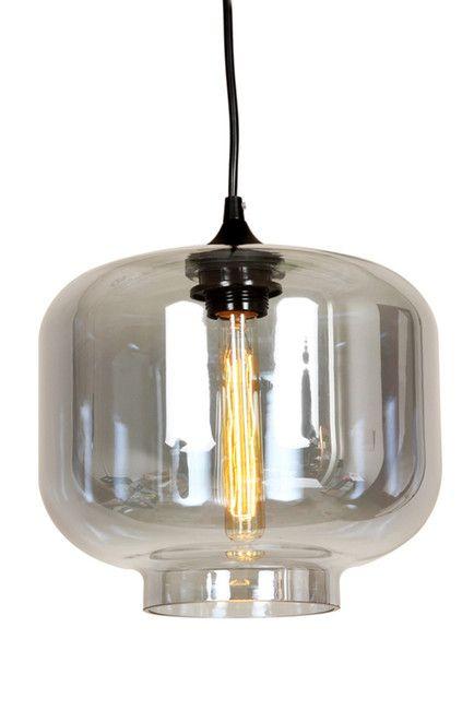 Bergen Grey Tint Pendant Lamp