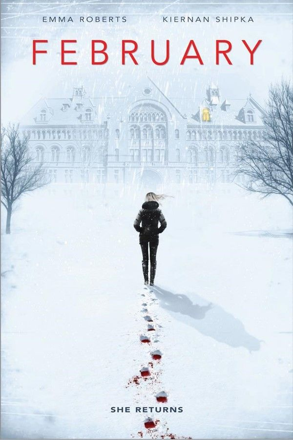 At 2015 TIFF: Writer/director Osgood Perkins' feature film debut, February. Two girls Kat (Kiernan Shipka) and Rose (Lucy Boynton) become stranded at their boarding school over the winter break after their parents mysteriously do not pick them up. At the same time a young woman (Emma Roberts) leaves a bloody path behind her as she makes her way towards the boarding school. With Janet Hetherington as a bus patron (if the scene remains)!