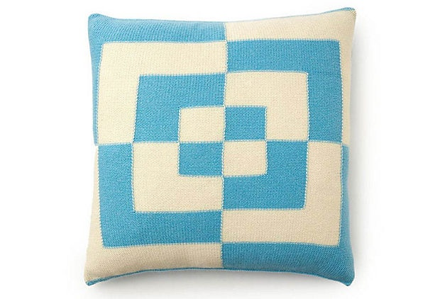 Bobo 21x21 Pillow, Aqua on OneKingsLane.com