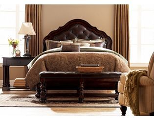Havertys Bayhall King Upholstered Bed  $1,499