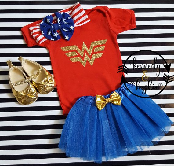 Wonder Woman Tutu vestito  Baby Girl Toddler di kennedyandkylie