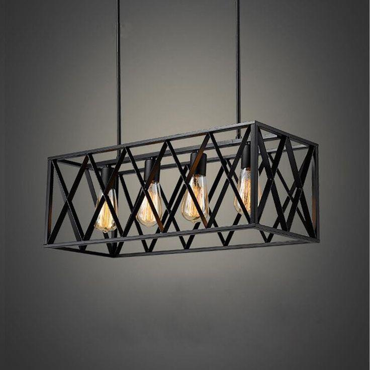 Купить товарЧерный старинные промышленные подвесные светильники Подвесные свет E27 Эдисон Лампы Американский Стиль лофт ресторан/бар столовая лампы в категории Подвесные светильникина AliExpress.