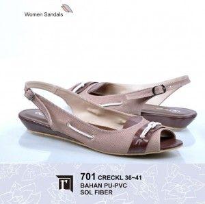 Jual Sandal Teplek Wanita Lucu Keren Trendy Murah Online warna cream