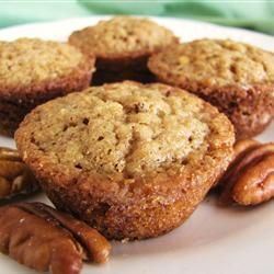 TRIED & TRUE - Pecan Mini Muffins: If you cross pecan pie and a muffin this is what you get - a sweet, dense, nutty muffin.  For presentation I put a pecan half on top of each one.  ~J