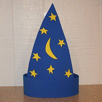 Craft foam wizard hat pattern crafts paper and aluminum for Craft hats for kids