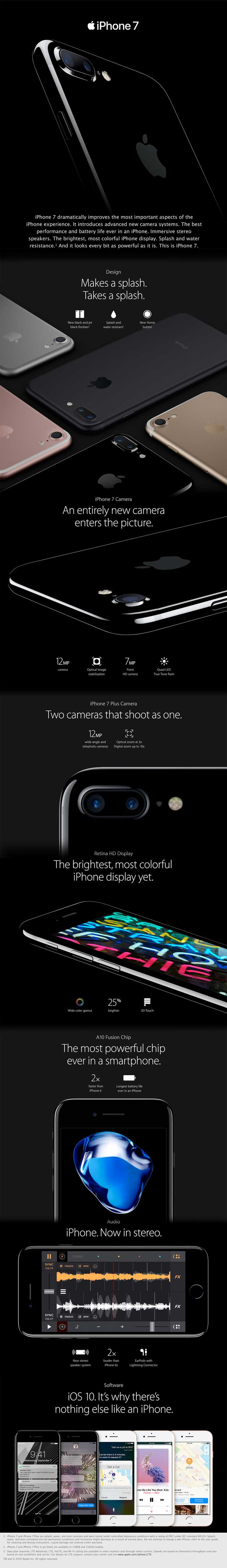 Apple ~ Introducing iPhone 7 -- here are the basics and features, thanks to the UGNN (User Group Network News Service) and if you go to the page they are showing the Apple Video introduction for iPhone 7 ... enjoy ... #iPhone #iPhone7 #ugnn #usergroups #usergroupnetwork