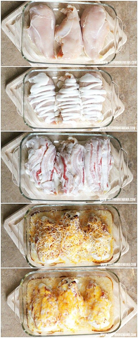 This is SO delicious! My husband wants me to make it once a week! Bacon Ranch Chicken Bake by thepinningmama.com