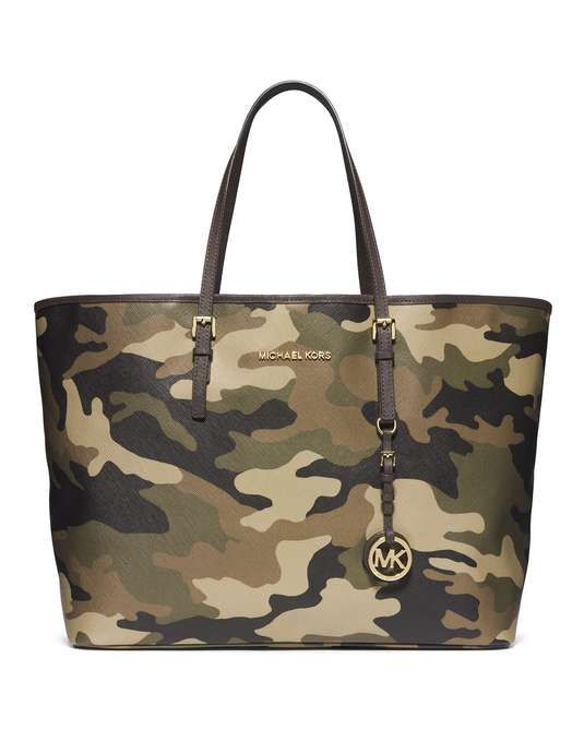 want one! MICHAEL Michael Kors | Medium Jet Set Camo Travel Tote #michaelmichaelkors #camo #tote #bag