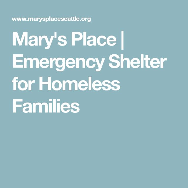 Mary's Place | Emergency Shelter for Homeless Families