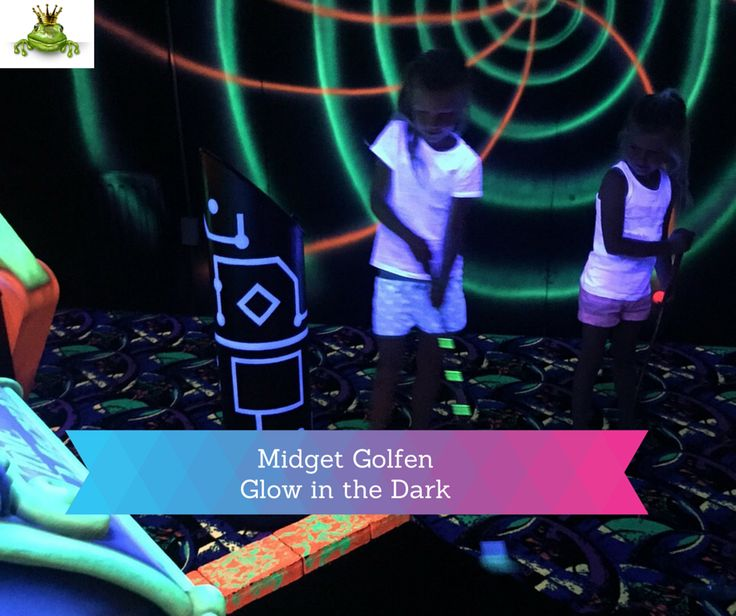 www.leukverjaardagfeestje.nl #Midget #Golf, #Glow in the DARK