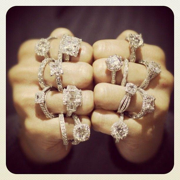 Tacori.  I'll take them all! xoxoBest Friends, Rings Fingers, Diamonds Rings, Engagementrings, Wedding Rings, Dreams Rings, My Style, Bling Bling, Engagement Rings