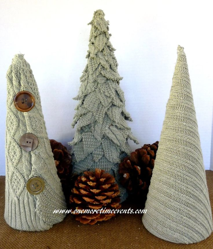 Sweater Christmas Trees ~ Don't know what to do with those old sweaters? Turn them into Christmas trees!