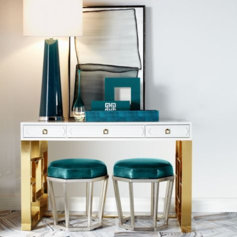 """$250, 40"""" tall.  Blue would look great with the wall color. Century Table Lamp from Z Gallerie"""