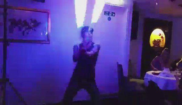"Flame-boyant Ents on Twitter: ""Little snippet of NYE @DineatMayflower #Basingstoke using #pixelpoi to @LindsayStirling - Crystallize https://t.co/J5yGcc5OMT"""
