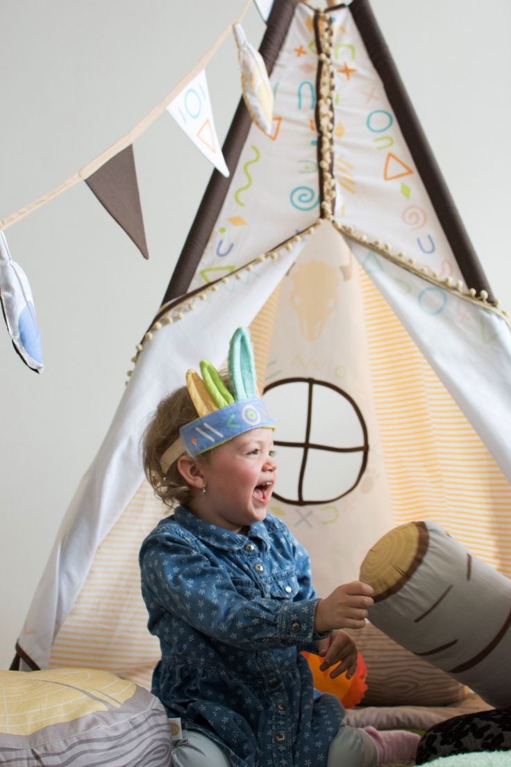 teepee vigvam kids room design tee pee indian panel wood pillow fireplace camp fire