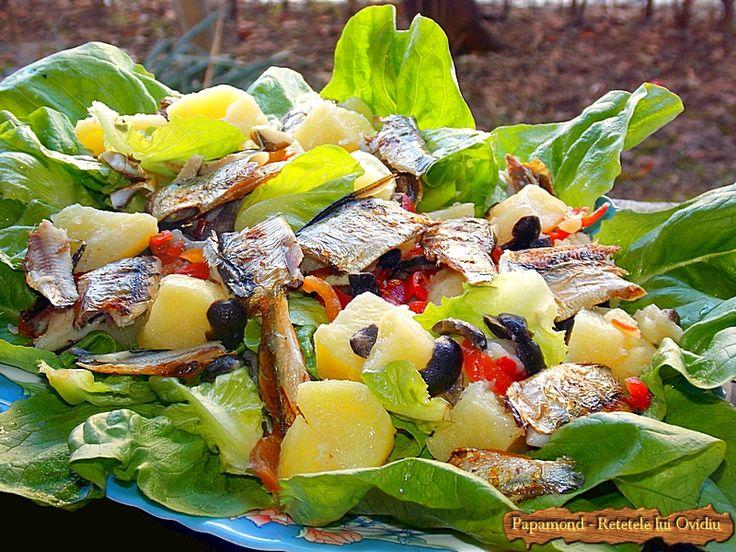 Salad with grilled fish Salata cu peste preparat la grătar #salad, #fish