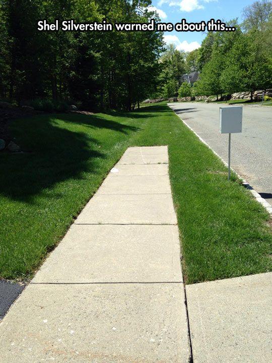 Where the sidewalk ends...
