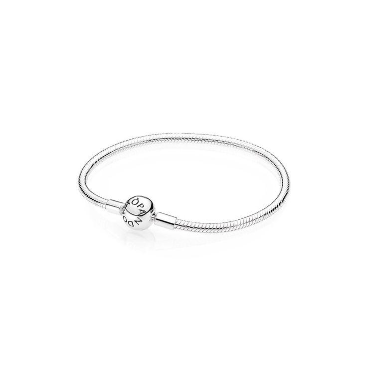 Srebrna bransoletka Moments z okrągłym zapięciem - 590728