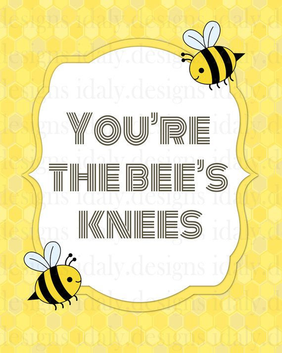 You're the bee's knees bumble bee nursery print by idaly on Etsy, $8.00