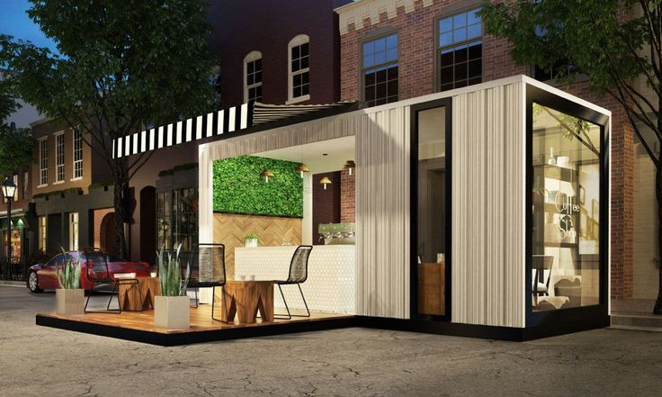 Pop Up Retail Coffee Shop Cafe Urban Revitalization Shipping Container Sea Can