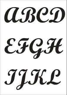 Letra cursiva maiuscula
