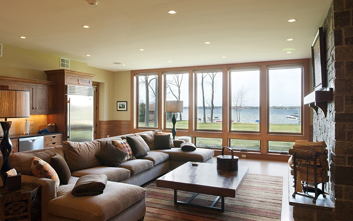 Pinnacle clad casement, awning, direct set, and swinging patio doors by Windsor Windows & Doors. www.windsorwindows.com