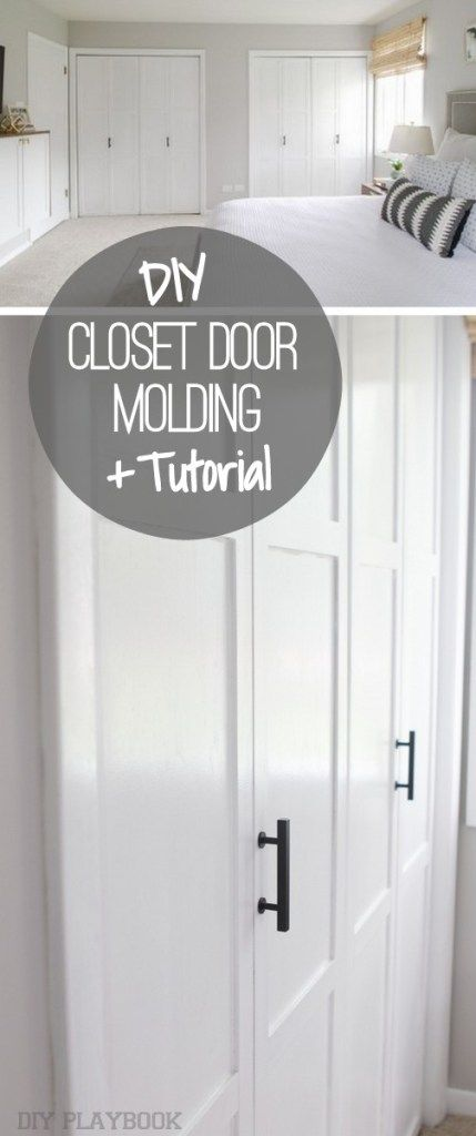 How to Add Molding to Closet Doors