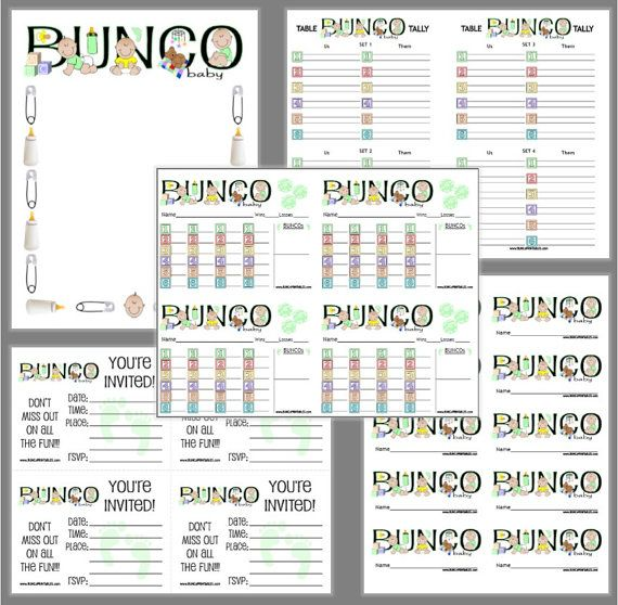 Más de 25 ideas increíbles sobre Bunco score sheets en Pinterest - bunco score sheets template