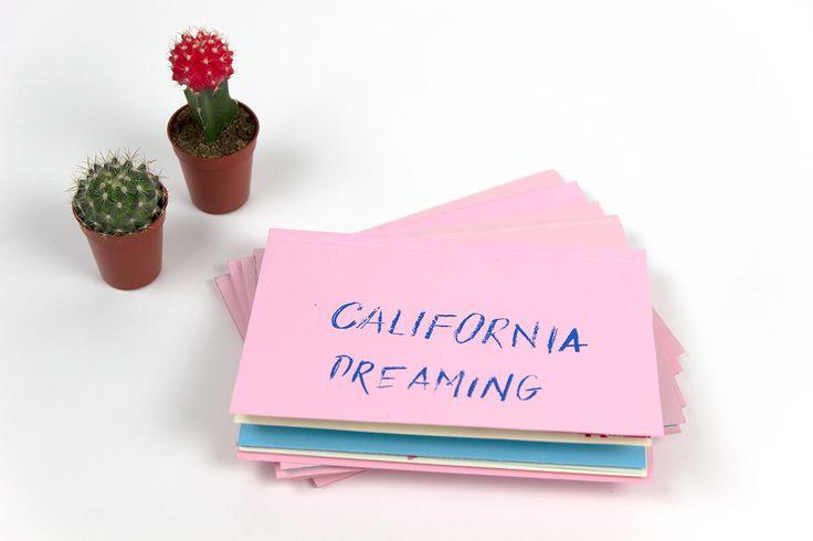 California Dreaming Zine, screen printed at San Francisco