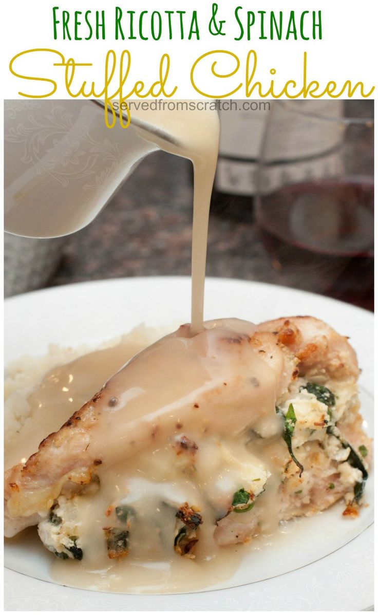 Fresh Ricotta and Spinach Stuffed Chicken is a dinner that will taste like you slaved in the kitchen all day but is easy enough for a weeknight!