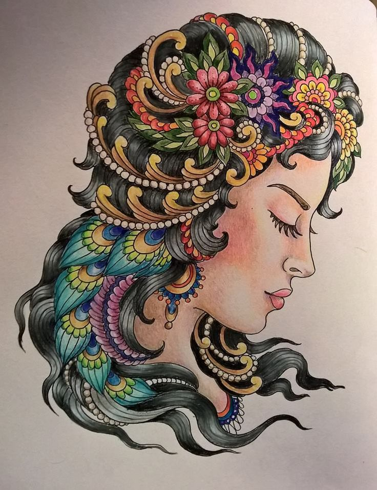 Coloured By Brenda Dockery‎. From Color Odyssey by Chris Garver. Done with prismacolor pencils..