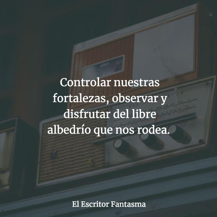 Salir de la zona de confort, dicen. Controlar nuestras fortalezas, observar y disfrutar del libre albedrío que nos rodea. #reflexion #radio #fortalezas #musica #vida