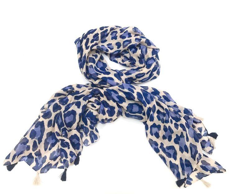 Image result for pink deer navy leopard scarf