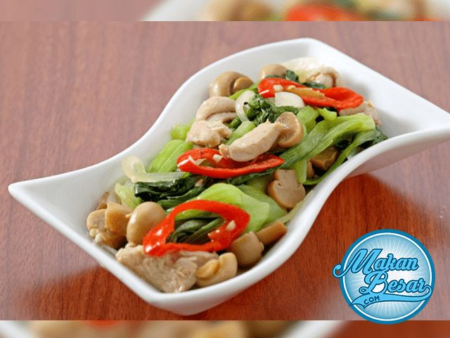 Resep Tumis Pokcoy Ayam Jamur