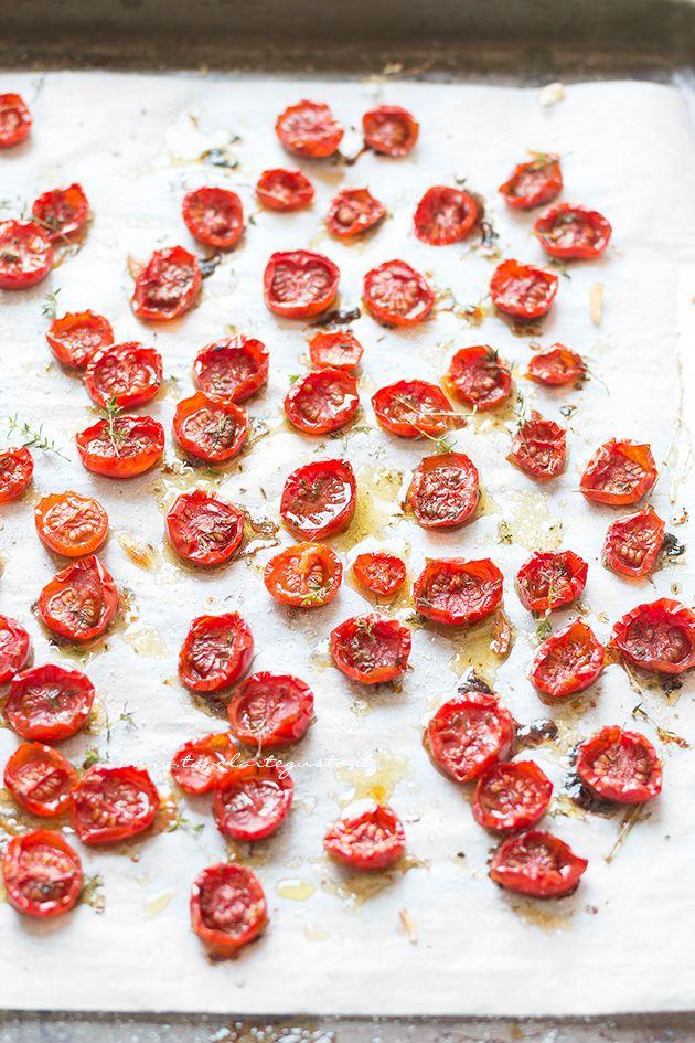 Pomodorini confit (Pomodorini al forno) - Ricetta Pomodorini confit