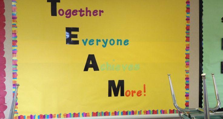 Top 8 Teamwork Bulletin Board Ideas
