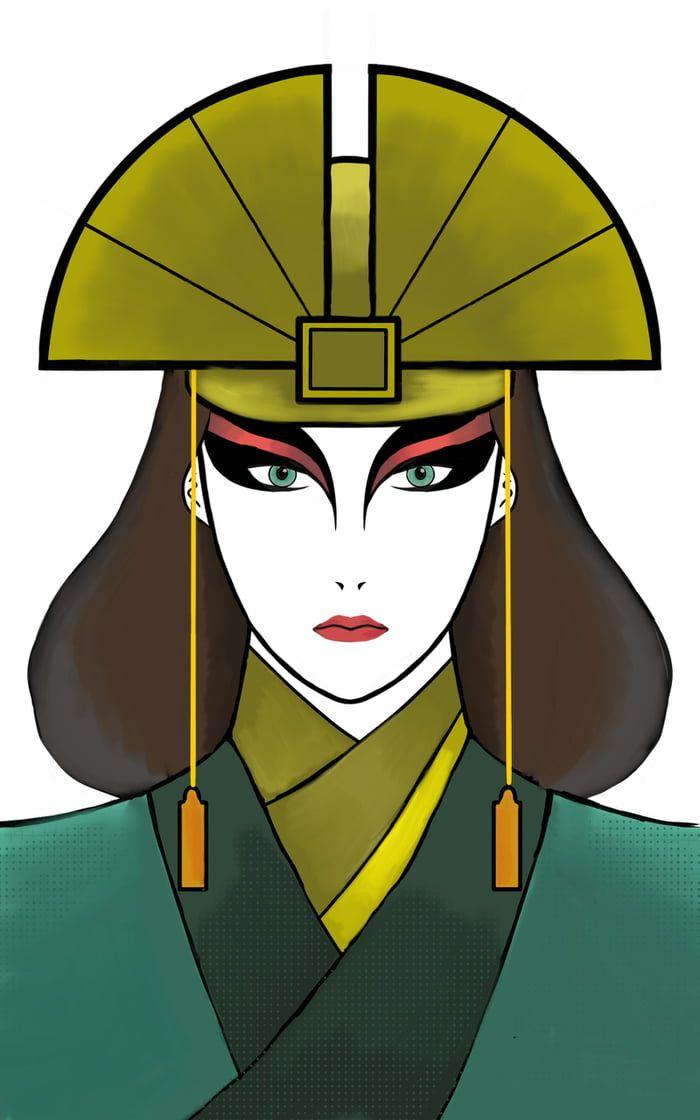 Kyoshi Drawing On Phone Avatar Kyoshi Avatar Cosplay Kyoshi Warrior Avatar kyoshi phone wallpaper