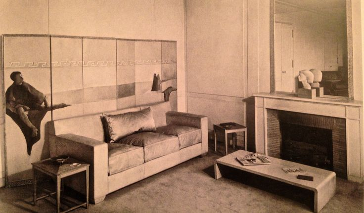 Living room claire artaud 39 s flat 1936 design by jean for 15 x 18 living room ideas