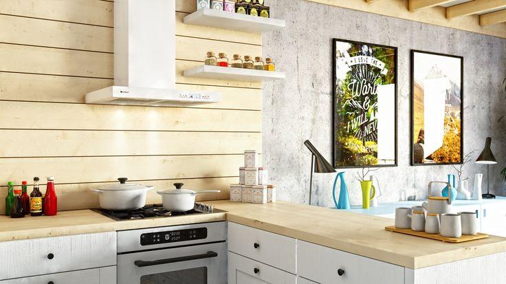 Skandynawska kuchnia w znakomitym wydaniu z okapem Nomina 60 White marki GLOBALO.