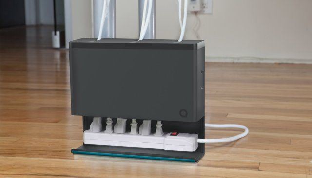 Plug Hub Makes Your Wire Mess Disappear Computer Desk Organization Cable Organizer Cable Management