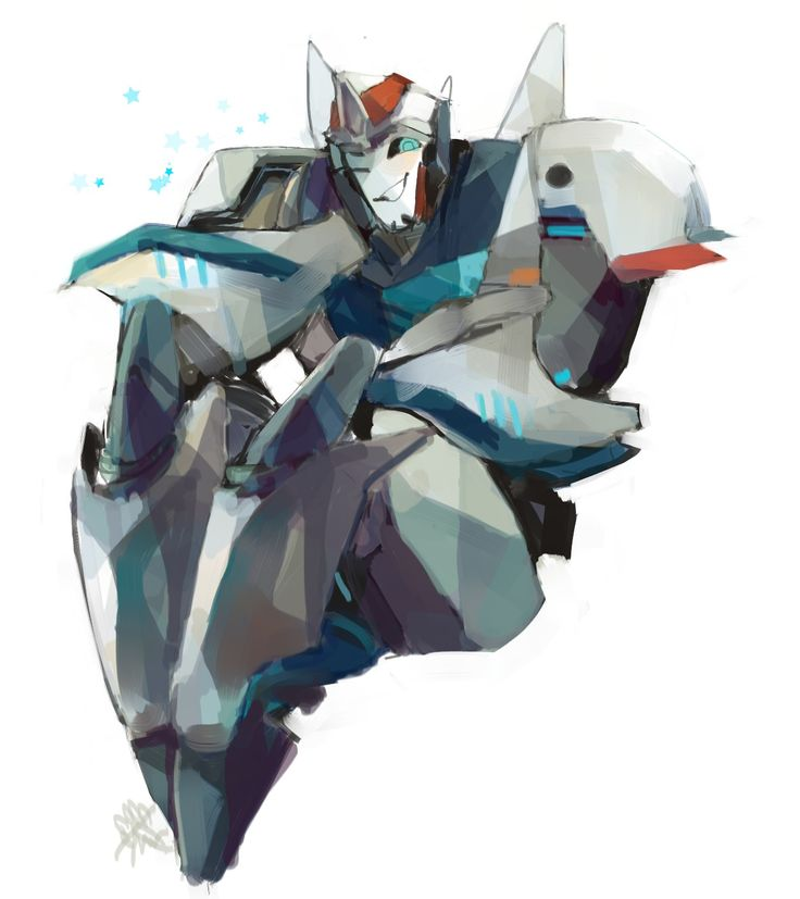 Smokescreen from Transformers Prime being a cute lil fragger. Drawn by http://laserwave.co.vu/