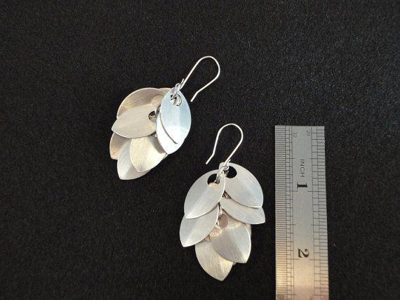 Jingle Scales Earrings  Sterling Silver Ear Wires by iadornyouca, $15.00