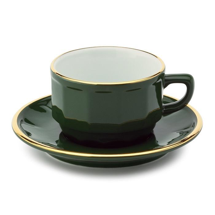 Tasse französisches Bistrogeschirr Tee- / Kaffeetasse | Gedeckter Tisch