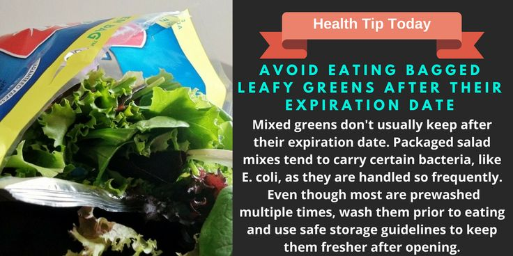Avoid Eating Bagged Leafy Greens After Expiration Date