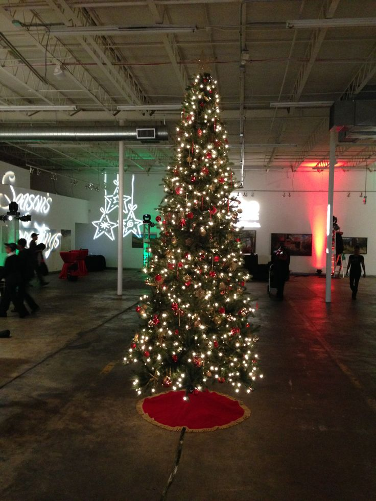 one of four trees that we set up and decorated at mason murer art gallery - Christmas Tree Rental