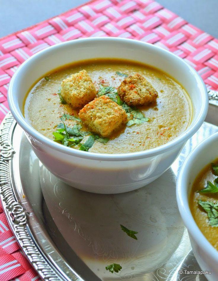 Indo-French Butternut Squash And Potato Bisque - Pondicherry ~ Tamalapaku