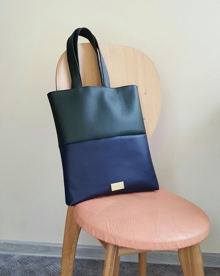 Carry your belongings with colorblock vegan tote bag from http://vilmaboutique.com