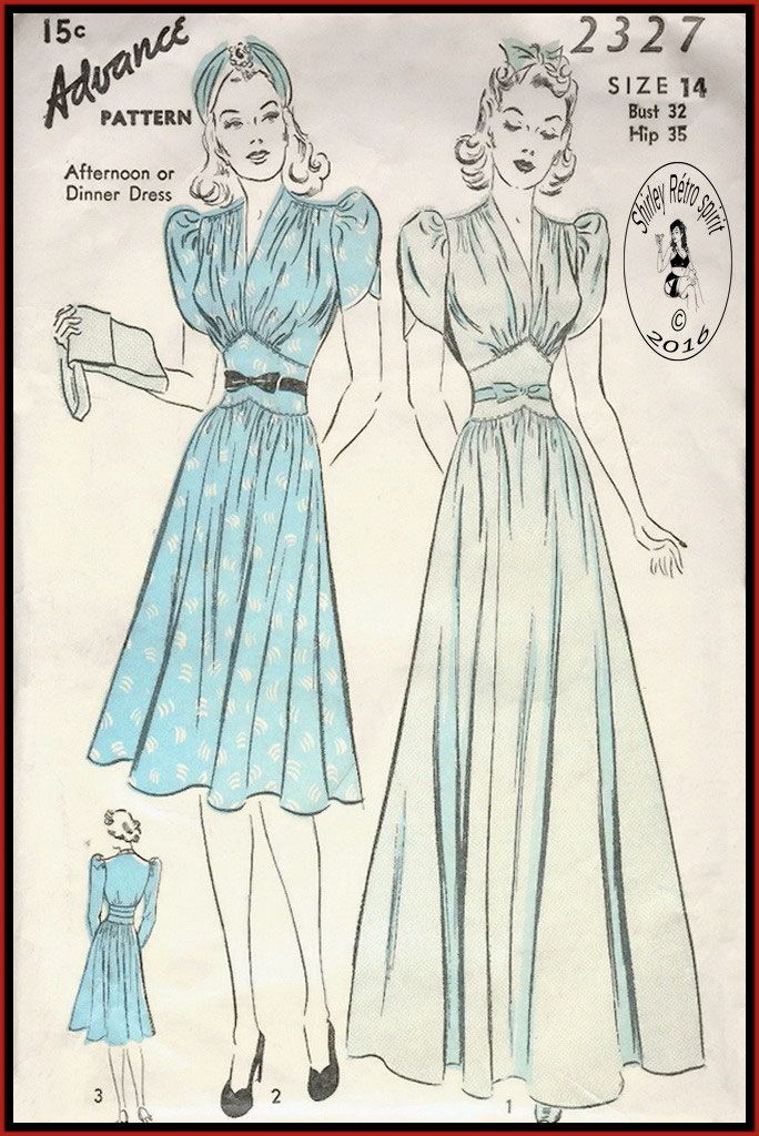 8 best 1930s styles images on Pinterest | Vintage schnittmuster ...